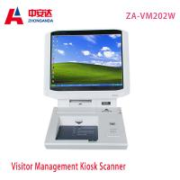 Buy cheap White Desktop Visitor Management Kiosk Touch Screen Bank Hotel Payment Kiosk Scanner Wholesale ZA-VM202W from wholesalers
