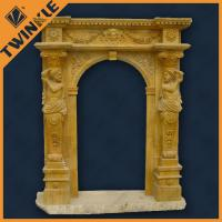 Exterior large stone door surrounds with statue pure