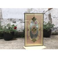 Wholesale Theft Proof Art Glass Panels  Black Zinc Translucency Glue Chip Bevel from china suppliers