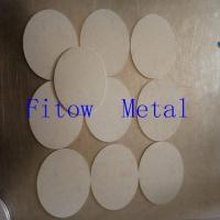 Stainless steel powder sintered porous filter material and stainless steel filter element