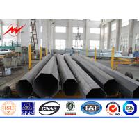 Quality 30m power coating galvanized Eleactrical Power Pole for 110kv cables for sale