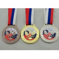 Wholesale Die Casting 3D Boxing Ribbon Medals with High 3d And High Polishing for Company Promotional Gift from china suppliers
