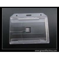 Wholesale Transparent double sides insert ID card holder eco-friendly ABS big size for two cards from china suppliers