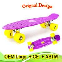 Wholesale best Christmas gift customed color fish skateboard for kids from china suppliers