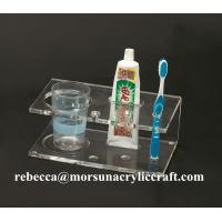Wholesale Acrylic toothbrush holder, acrylic bathroom ware holder, acrylic rack from china suppliers