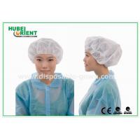 Buy cheap Soft PP Non Woven disposable bouffant caps , White bouffant hair nets from wholesalers