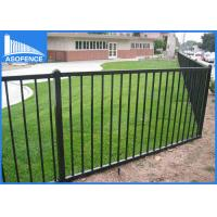 Wholesale Heavy Duty Steel Privacy Fence Panels ,  Tubular Flat Top Pool Fencing For Gardens / Schools from china suppliers