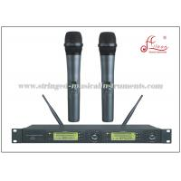 Wholesale Dual Receiver UHF FM Transmitter Portable PA System , Wireless MIC Microphone from china suppliers