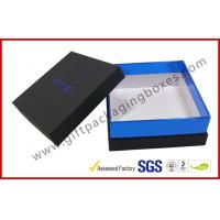 Wholesale Elegant Black Gift Packaging Boxes with top and base / blister tray from china suppliers