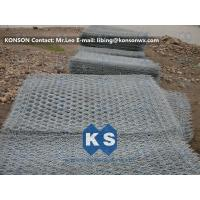 Wholesale Hexagonal Wire Netting Gabion Mesh With Electro Galvanizing And PVC Coated from china suppliers