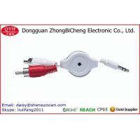 Wholesale Double Sided Retractable 3.5DC TO 2RCA Stereo AV Cable from china suppliers