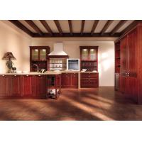 Wholesale Custom Red Solid Wood Kitchen Cabinets , French Country Kitchen Cabinets from china suppliers