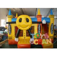 Wholesale 0.55mm PVC Custom Funny Face Inflatable Bouncy House For Kids Party Rental from china suppliers