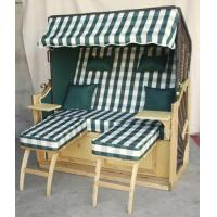 Wholesale All Weather 2 Seat Roofed Wicker Beach Chair & Strandkorb For Garden from china suppliers