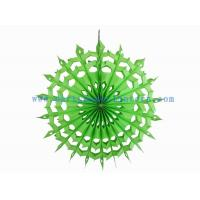Wholesale Folded 12 Inch Lime , Yellow / Lime Hanging Paper Fans For Spring Parties Decoration from china suppliers
