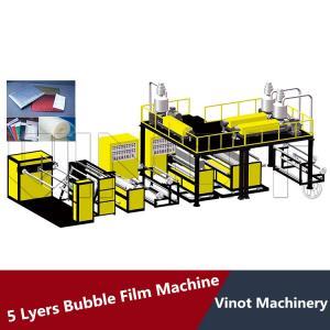 China 5 Layers Bubble Wrap Making Machine 38CRMOLA Screw Material , Polyethylene Bubble Film on sale