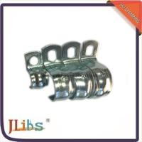 Wholesale Zinc Galvanized Hydraulic Tube Saddle Clamps / Saddle Pipe Clips Vertical Without Rubber from china suppliers