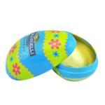 Food grade metal material decorative easter egg tin box