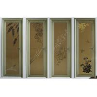 Wholesale White, champagne evironment friendly single, double aluminum hinged doors for bedroom from china suppliers