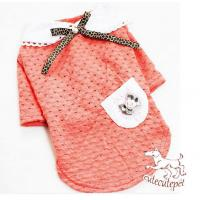 Buy cheap Bowknot dog shirt, dog apparel for girls from wholesalers