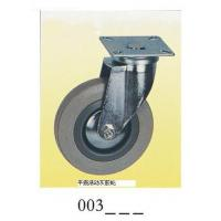 Buy cheap Gray rubber Caster wheel swivel with plate 003 from wholesalers