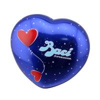 Wholesale Baci Chocolate Tin Box Heart Shaped Metal Can With Base Blue Color from china suppliers