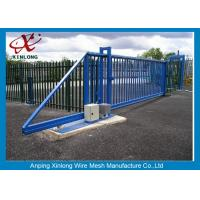 Wholesale Dark Green Decorative Automatic Sliding Gates OEM / ODM Available from china suppliers