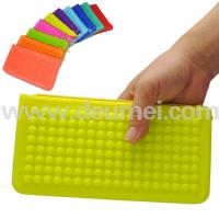 Wholesale Latest Design Popular Silicone Cosmetic Bag/Silicone Jelly Candy Bag Tote Bag Custom Color from china suppliers