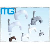 Wholesale PP Materials Circle Coaxial Cable Clips For General Indoor Wiring 100 Pcs / bag from china suppliers
