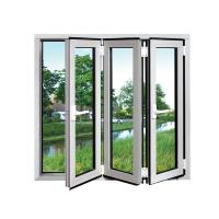 Wholesale White Safety Double Folding Glass Windows waterproof Coated With Grill from china suppliers