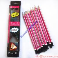 Wholesale A garde softened linden hb pencil with eraser in paper box,stripping,hexagonal pencil from china suppliers