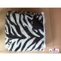 Wholesale Zebra Printed Polyester Outer Fabric Custom Home Comforters with Microfiber Filling from china suppliers