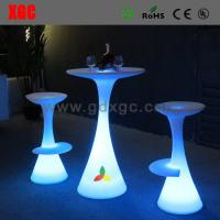 Wholesale LED lighting meeting stool furniture GF112 light furniture plastic Led furniture bar Chair High Bar Chair from china suppliers