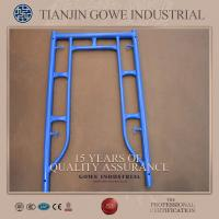 Wholesale Blue painted frame scaffolding system 1200 * 1524mm , ladder frame scaffolding from china suppliers