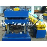 Quality Gcr15 Three Waves Highway Guardrail Roll Forming Machine , Sheet Metal Roll Former Machine 380V / 50HZ for sale