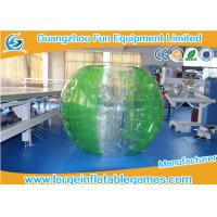 Wholesale TPU Green Striped Color Bubble Football Inflatable Bumper Ball For Adults / Kids from china suppliers