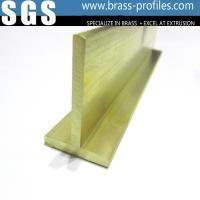 Quality Solid T Shape Sheet Brass Extrusion T Moulding Bar for sale