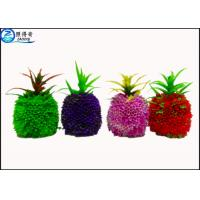 Wholesale Pineapple Artificial Fruit Fish Tank Decorations Green / Purple / Red Custom Aquarium Accessories from china suppliers