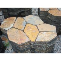 Wholesale Natual Rust Slate Flagstone Patio Flooring Pavers Multicolor Slate Flagstone Wall Cladding from china suppliers