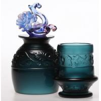 Wholesale Handblown glass toothpick holders / glass toothpick box DJ-12007 from china suppliers