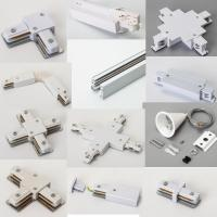 Wholesale track rail LED 2 line 3 line 4 line led track light accessory two wire three wire four wire I L T X + connector driver from china suppliers