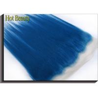 Quality Customized Dark Blue Human Hair Virgin Lace Frontal Straight OEM No Shedding for sale