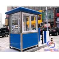 Wholesale Columniform Tall Stainless Steel Sentry Box / Security Booth And Glass-Window For Watching from china suppliers