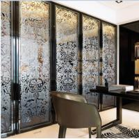 Wholesale Folding Home Decorative Stained Glass Interior Doors For Wardrobe Glass Door from china suppliers