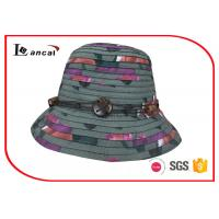 Wholesale Multi Color Wide Brim Sun Hat , Superposed Style Ladies Straw Hats from china suppliers