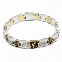 Wholesale Bracelet, Customized Designs Welcome, Available in Various Styles, Made of Stainless Steel from china suppliers