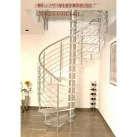 Quality Steel Glass Spiral Staircase for sale