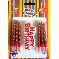 Wholesale 12 Pieces Passionate Red Golden Birthday Candles With Plastic Card from china suppliers