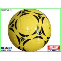 Wholesale PVC PU Foam Leather Soft Touch Football Soccer Ball Yellow 32 Panel from china suppliers