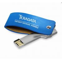 Wholesale OEM promotional gift metal key usb with leather case from china suppliers